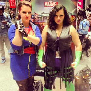 New York Comic Con Oct. 2014 - Punk Rock Captain Marvel and She-Hulk